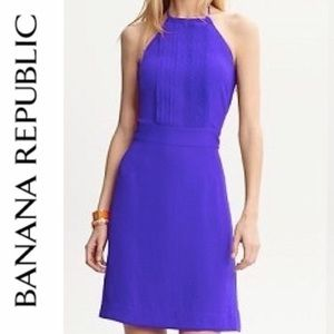 Banana Republic Blue Halter Summer Dress